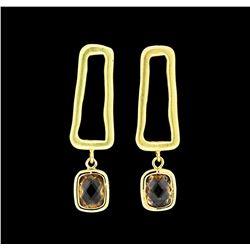 Dangle Post Earrings - Gold Plated
