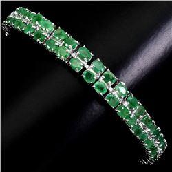 Natural Rich Green Emerald 92.04 Cts  Bracelet