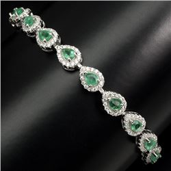 Natural Rich Green Emerald Bracelet