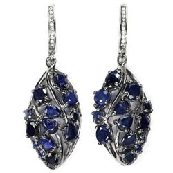 Natural Intense BLUE SAPPHIRE Earrings