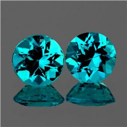 Natural Rare Brazil Blue Apatite Pair 6.50 MM - VVS