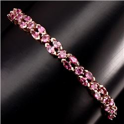 Natural Marquise 5 mm Top Rich Pink Tourmaline Bracelet