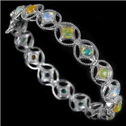 Stunning Natural Multi Color Opal Bracelet