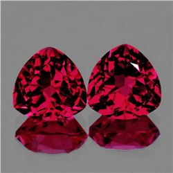 Natural AAA Pink Red Topaz Pair 14 MM - Flawless