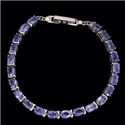 Natural Top Rich Blue Violet Tanzanite 64 Cts Bracelet