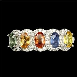Natural  Fancy Color Sapphire Ring