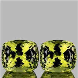 Natural Green Gold Lemon Quartz Pair 11.36 Ct - FL