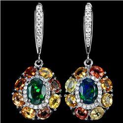 Natural OPAL MULTI COLOR SAPPHIRE Earrings