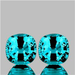 NATURAL PREMIUM INTENSE BLUE ZIRCON PAIR - FL