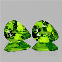 Natural Top Green Peridot Pair {Flawless-VVS1}
