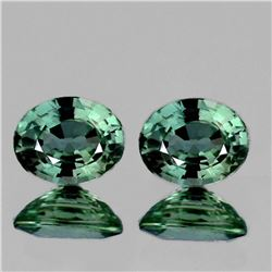 NATURAL BRILLIANT GREEN SAPPHIRE PAIR 6x5 MM - FL
