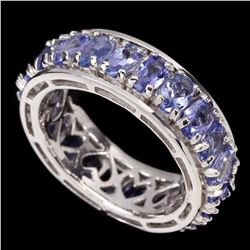 Natural Top Blue Violet Tanzanite Ring