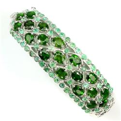 Natural Green Chrome Diopside Columbian Emerald Bangle