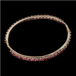 Natural Top Rich Pink Tourmaline 69.88 Ct Bangle
