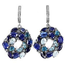 Natural TOPAZ SAPPHIRE KYANITE Earrings