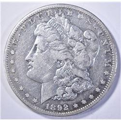 1892-S MORGAN DOLLAR, XF KEY DATE