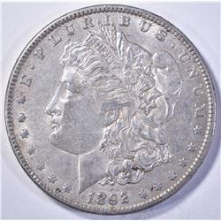 1892-O MORGAN DOLLAR, AU