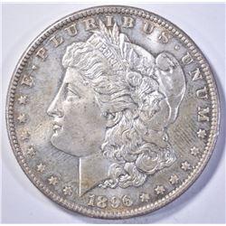 1896 MORGAN DOLLAR, CH BU PL