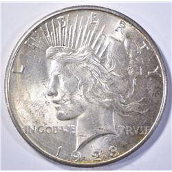1923-S PEACE DOLLAR, CH BU