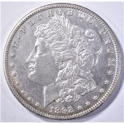 1892-CC MORGAN DOLLAR  AU/BU  CLEANED
