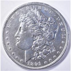 1891-CC MORGAN DOLLAR AU/BU