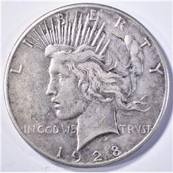 1928 PEACE DOLLAR   VF