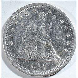 1877-S SEATED QUARTER, CH BU