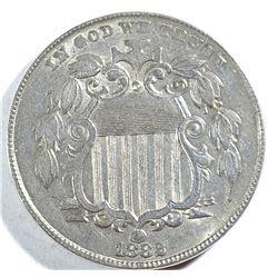 1882 SHIELD NICKEL, AU