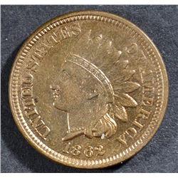 1862 INDIAN CENT, AU/BU