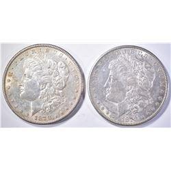 (2) 1878-S MORGAN DOLLARS   CH BU
