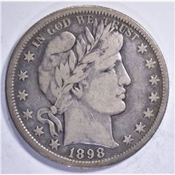 1898-S BARBER HALF DOLLAR FINE