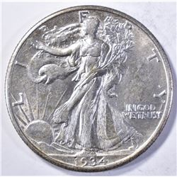 1934-S WALKING LIBERTY HALF DOLLAR AU/BU