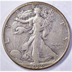 1929-S WALKING LIBERY HALF XF