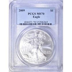 2009 A.S.E. DOLLAR PCGS MS70