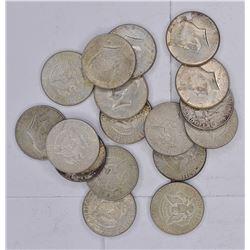 17-40% SILVER KENNEDY HALF DOLLARS