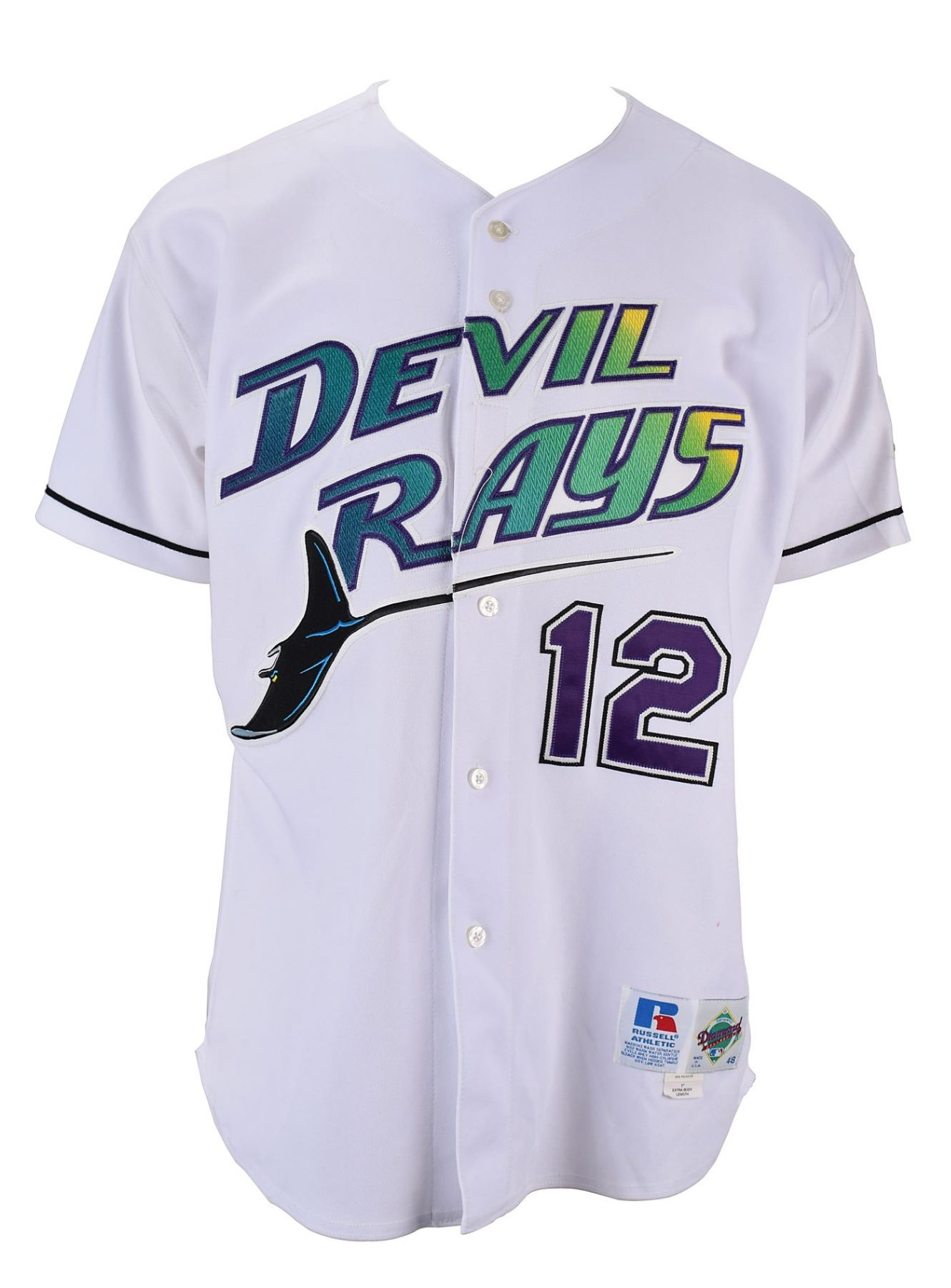 sale retailer 26437 92df7 Wade Boggs Game-Worn 2001 Tampa Bay Devil Rays Jersey