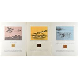 First Flights Group of (3) Relic Displays