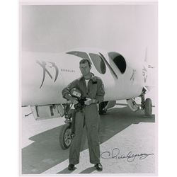 Chuck Yeager Group of (3) Signed Photographs