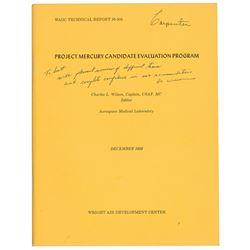 Scott Carpenter's Project Mercury Candidate Evaluation Booklet