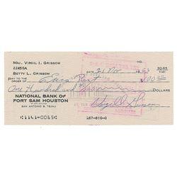 Gus Grissom Signed Check