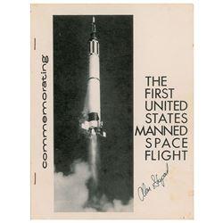 Alan Shepard Signed Program