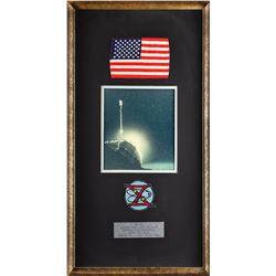 Alan Bean's Gemini 10 Flown Flag