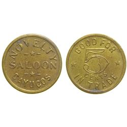 Novelty Saloon Token  (90356)