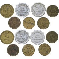 Seven Gilroy Tokens  (100373)