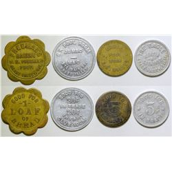 Four Grass Valley Tokens  (101221)