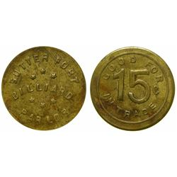 Sutter Fort Billiard Token  (100368)