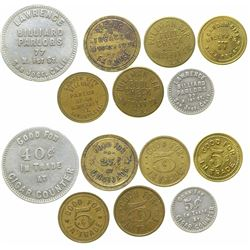 Billiard Parlor Tokens  (101662)