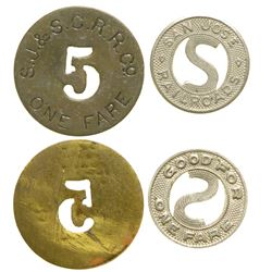 San Jose Railroad Tokens  (101656)