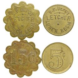 Southern Pacific Depot Lunch Room Tokens  (101654)