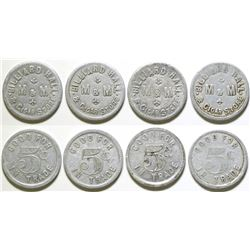 M & M Billiard Hall Tokens  (89012)
